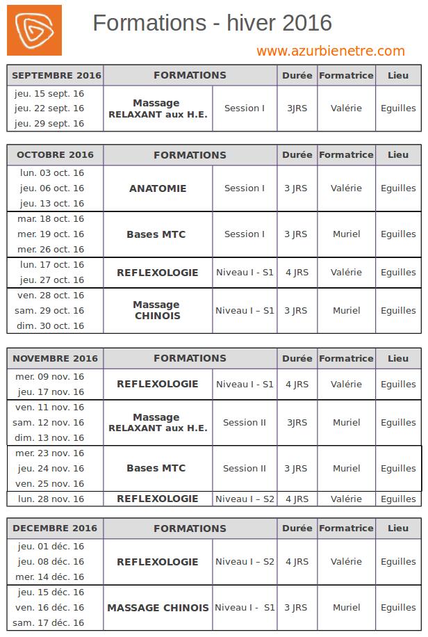 Agenda ABE hiver 2016